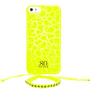 So Seven COQUE FLUO CRAQUELEE JAUNE ET BRACELET IPHONE 4/4S