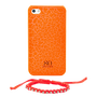 So Seven COQUE FLUO CRAQUELEE ORANGE AVEC BRACELET IPHONE 4/4S