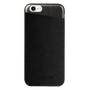 So Seven COQUE  METALLIC EFFECT SIMILI CUIR NOIR IPHONE 7/8